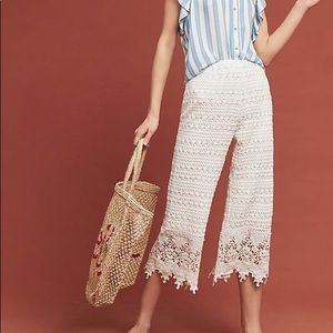 Anthropologie Moon River Beachy Lace Pant